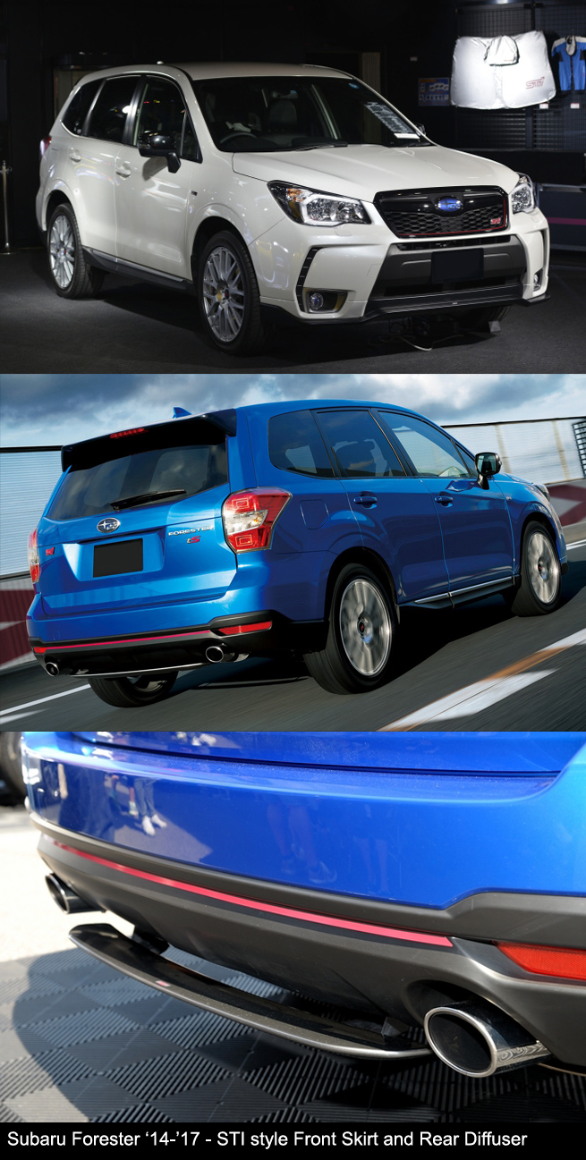 Subaru Forester 2014-2017 STI Front Skirt Rear Diffuser