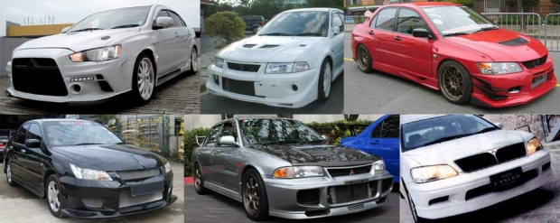 Body kits for every generation of the Mitsubishi Lancer and Lancer Evolution