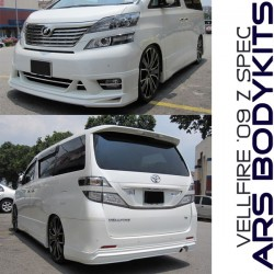 Toyota Vellfire Z Admiration style Front Skirt and Door Panels