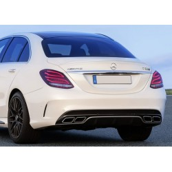 Mercedes Benz W205 AMG C63 Style Rear Diffuser with Tailpipes