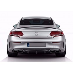 Mercedes Benz C205 AMG C63 Style Rear Diffuser with Tailpipes