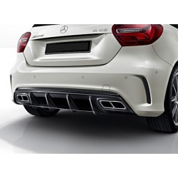 Mercedes Benz W176 AMG A45 style Rear Diffuser with Tailpipes